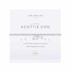 Joma Jewellery A Little SCOTTIE DOG Silver Plated Beaded Bracelet